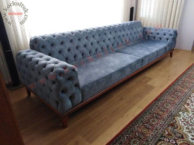 füme renkli modern chester kanepe