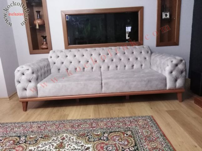 beyaz chester modern kanepe nubuk kumaş