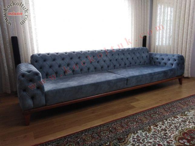lacivert modern chester kanepe özel büyük ölçü
