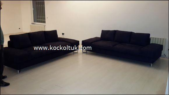 siyah renk modern koltuk takımı