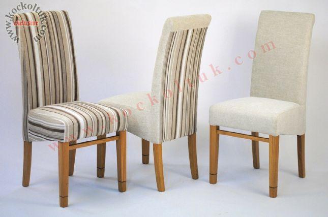 çizgili kumaş sandalye
