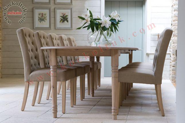 torna ayak ahşap yemek masa ve sandalyesi