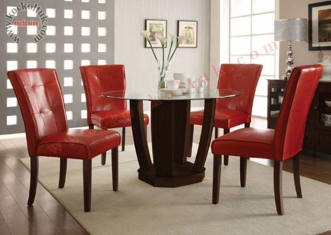 kırmızı deri sandalye