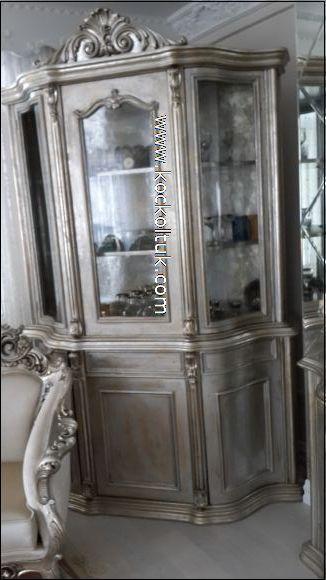 gümüş renk vitrin