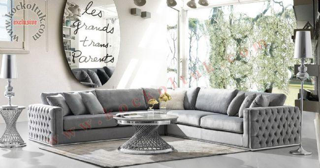 Modern Chester L Koltuk Takımı Zengin Renk ve Ölçü Seçenekleri