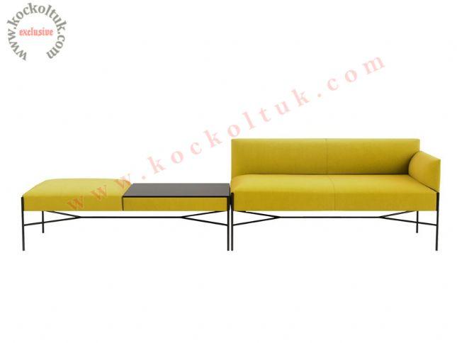 sarı kanepe bekleme salonu lobi koltuk