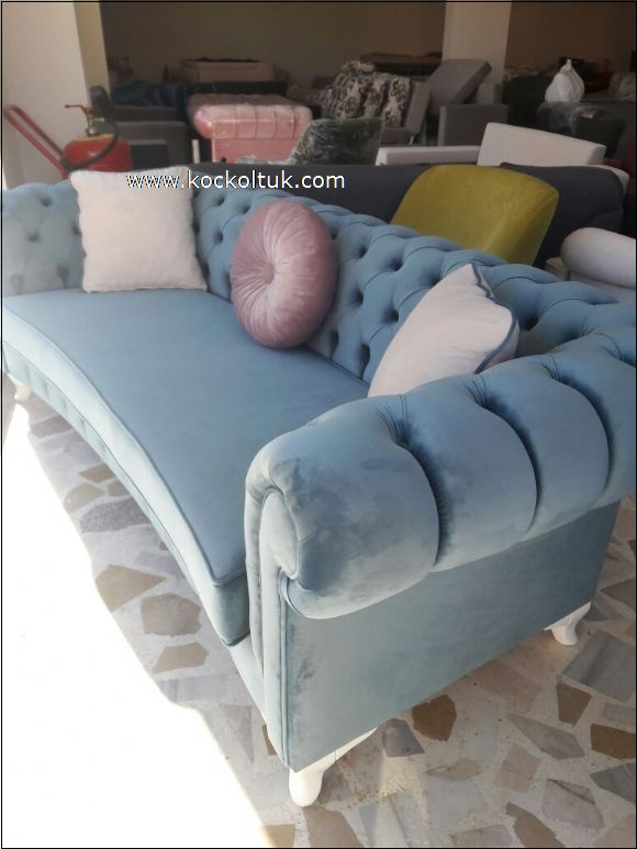 mavi renk kadife kumaş