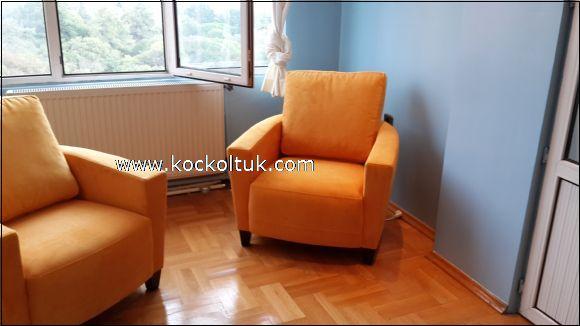 turuncu  tekli koltuk