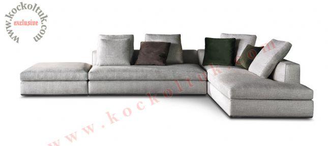 bej renk, kumaş, L köşe koltuk modern tasarım