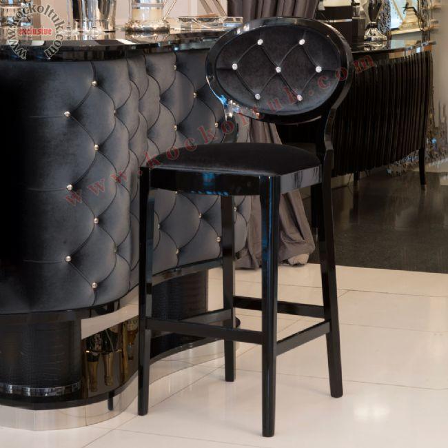 Avangart Art Deco Yüksek Sandalye Bar Sandalyesi