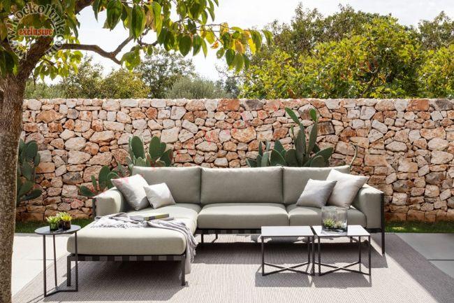 Bahçe için ideal tasarım modern köşe koltuk takımı