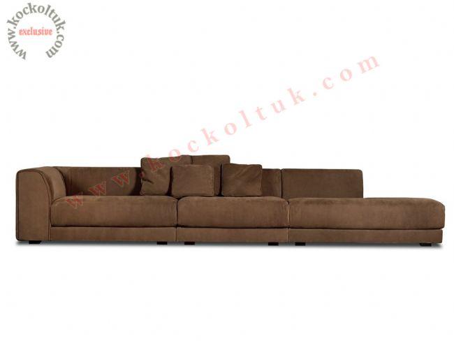 Büyük özel ölçü modern kanepe kahverengi