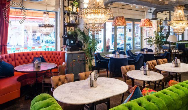 Deri Chester Sedir Koltuk Masa Sandalye Cafe Restoran Otel