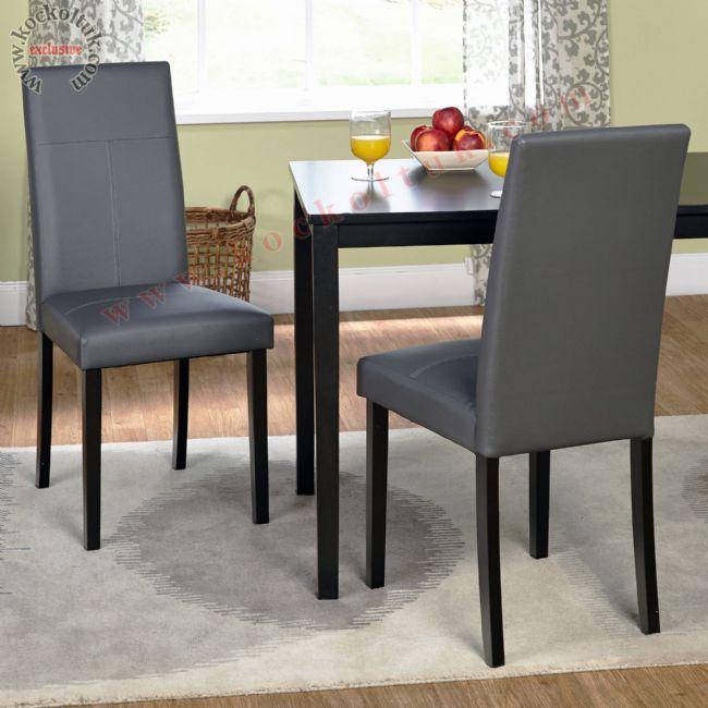 Düz deri Lokanta Sandalyeleri Koyu Renkler