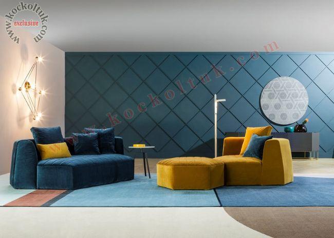 hexagon köşe koltuk dekoratif modüler fonksiyonel