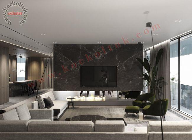Home Ofis Dekorasyonu Lüks Tasarım