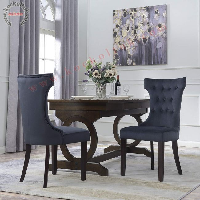 Kavisli Gri renk modern sandalye