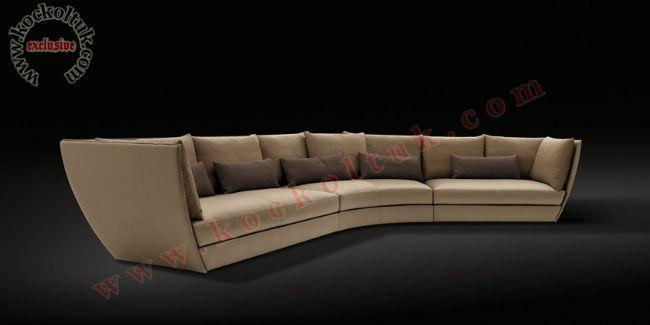 Kavisli üç parça 6 kişilik modern kanepe