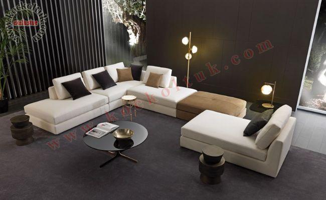 L Koltuk Takımı Şezlonglu modern tasarım L Koltuk