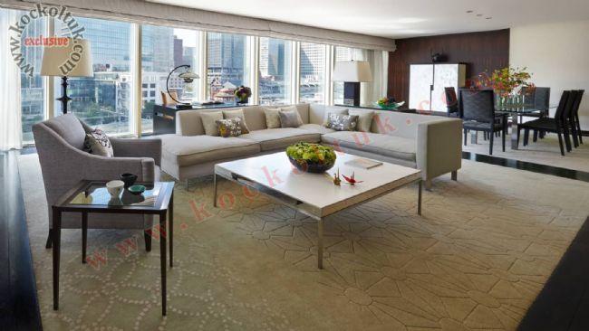 Lüks Modern Otel Odası Köşe Koltuk Takımı Berjer Koltuk