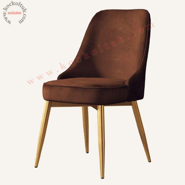Metal ayaklı cafe restoran sandalyesi modern lüks tasarım
