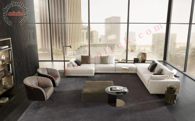 modern büyük ölçü salon oturma odası köşe koltuk takımı