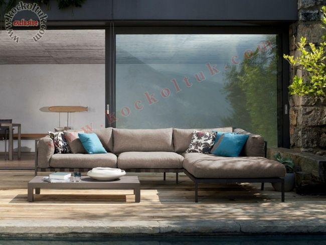 Modern köşe koltuk takımı rahat konforlu iç ve dış mekan