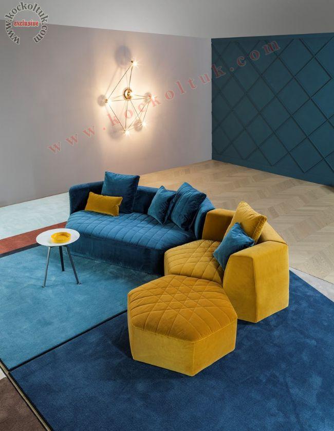 modern köşe koltuk ulta dekor hexagon