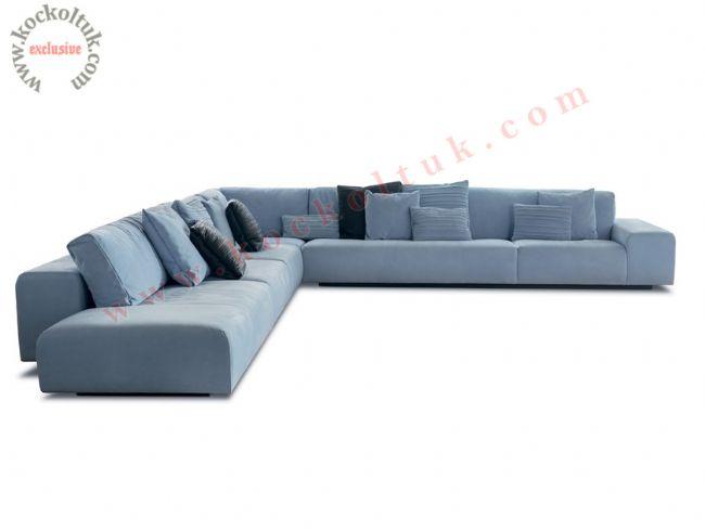 modern L şeklinde büyük ölçü köşe koltuk takımı
