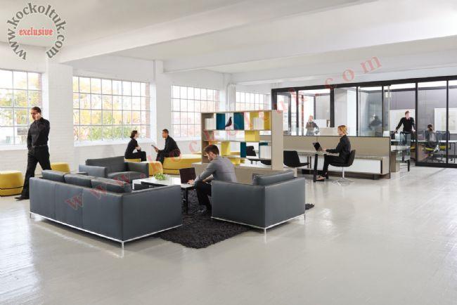 Modern Lüks Ofis Dekorasyonu Koltuk Takımları