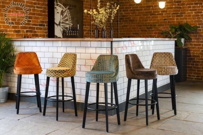 Modern Luxury Bar Sandalyesi Yüksek Oturumlu Modern Tasarım