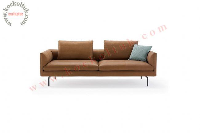 Modern oturma Odası koltuk takımı üçlü kahverengi kanepe