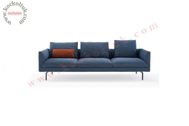 Modern oturma Odası koltuk takımı üçlü mavi kanepe