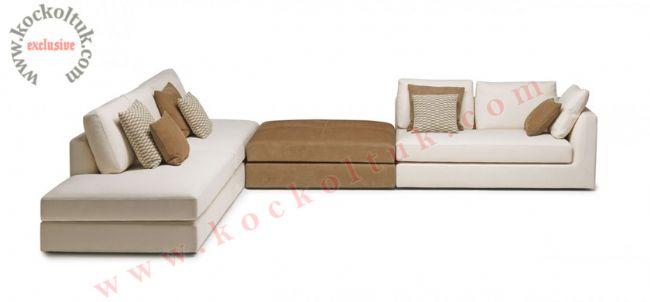 Modüler L koltuk takımı modern lüks tasarım