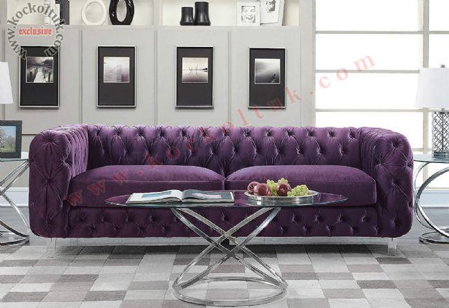 mor kadife chester modern kanepe italyan tasarım luxury