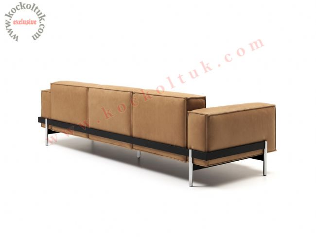 Ofis kanepe modelleri modern deri kahverengi
