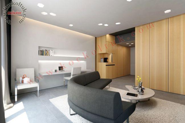 Otel Odası Yuvarlak Kanepe Modeli Modern Özel Ölçü Üretim