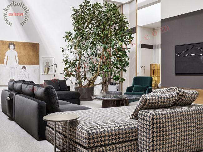 Özel tasarım modern köşe koltuk takımı büyük ölçü