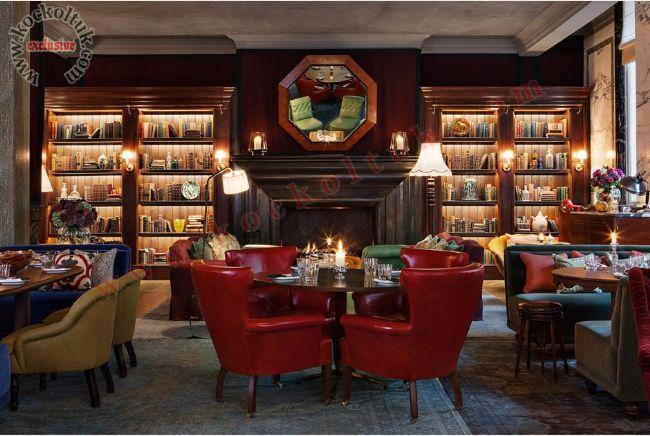 Restoran Koltuk Masa Sandalye lüks iç mekan tasarımı