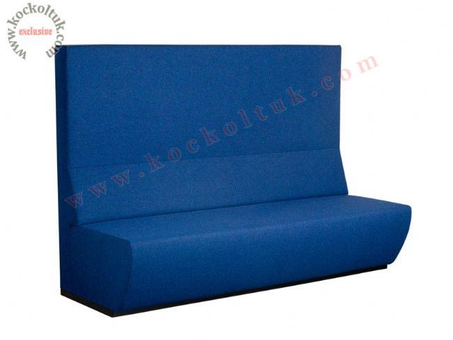 Sedir Koltuk mavi renk yüksek sırt düz modern tasarım
