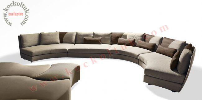 Yuvarlak modern koltuk takımı özel ölçü üretim